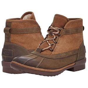 NWT UGG Greda Chestnut Ankle Boots Sz 10